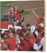 Milwaukee Brewers V St. Louis Cardinals Wood Print