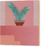 Minimal Tropic Wood Print