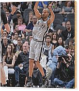 Minnesota Timberwolves V San Antonio Wood Print