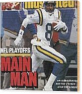 Minnesota Vikings Anthony Carter, 1988 Nfc Divisional Sports Illustrated Cover Wood Print