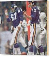 Minnesota Vikings Qb Fran Tarkenton, 1973 Nfc Championship Sports Illustrated Cover Wood Print