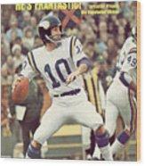 Minnesota Vikings Qb Fran Tarkenton... Sports Illustrated Cover Wood Print