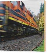 Missed The Train Wood Print