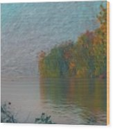 Mississippi Rivers Edge Wood Print