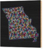 Missouri Map - 2 Wood Print