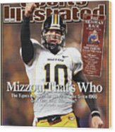 Missouri University Qb Chase Daniel Wood Print