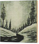 Misty Dawn Number Three Wood Print
