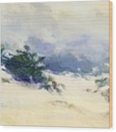 Misty Dunes Carmel Wood Print