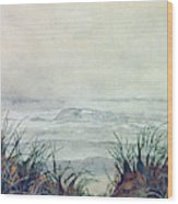 Misty Morning On Lawrencetown Beach Wood Print