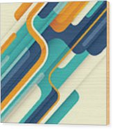 Modern Abstract Illustration In Color Wood Print