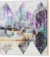 Modern Art Coordninates Manhattan And Brooklyn Wood Print