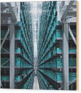 Modern Automatized High Rack Warehouse Wood Print