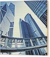 Modern Office Buildings Wood Print