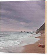 Mohegan Bluffs Beach- Block Island Wood Print