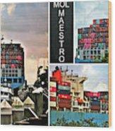Mol Maestro Collage Wood Print