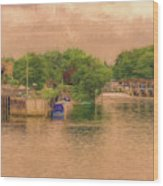 Molesey Lock And Weir Wood Print