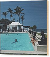Molly Wilmots Pool Wood Print