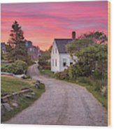 Monhegan Island Maine Wood Print