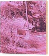 Monochromerose Countyroad Wood Print