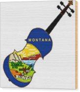 Montana State Fiddle Wood Print