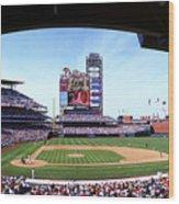 Montreal Expos V Philadelphia Phillies Wood Print
