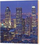 Montreal Skyline, Canada Wood Print