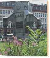 Monument Square Wood Print