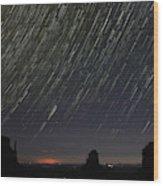 Monumental Star Trails Wood Print