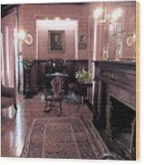Moody Mansion Study Wood Print