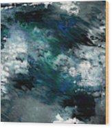 Moonlight Ocean- Abstract Art By Linda Woods Wood Print
