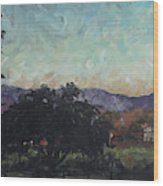 Moonlight Ranch Wood Print