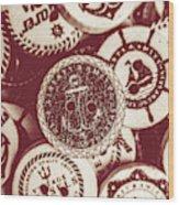 Mooring In Maroon  Wood Print