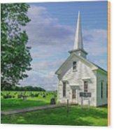 Moose Brook Chapel Wood Print