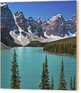 Moraine Lake, Banff National Park Wood Print