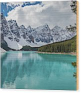 Moraine Lake Range Wood Print
