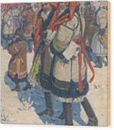 Moravian Slovaks In The Winter Wood Print