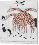More Giraffes Wood Print