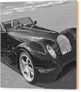 Morgan Aero 8 Black And White Wood Print
