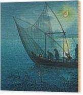 Morigasaki Coast Wood Print