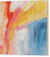 Morning 2- Art by Linda Woods Wood Print