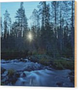 Morning Has Broken At Hepokongas Waterfall Wood Print