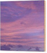 Morning Purples Wood Print