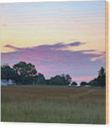 Morning Skies Over Gettysburg Wood Print