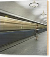 Moscow Metro Wood Print