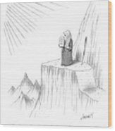 Moses Speaks To God Wood Print