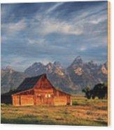 Moulton Barn Morning Light Wood Print