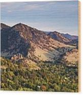 Mount Sanitas And Fall Colors In Wood Print