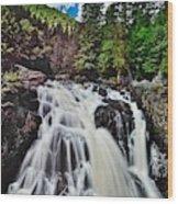 Mount Tremblant Waterfall Wood Print