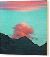 Mountain Daybreak Wood Print