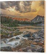 Mountain Glow Wood Print